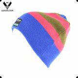 Unisex Acrylic Stripe Knit Music Player Bluetooth Beanie Hat