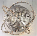 Hotel Project Sphere Hanging Satinless Steel Pendant Lamp