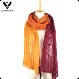 Women′s Long Multicolor Knitted Acrylic Mohair Scarf