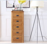 Solid Wooden Oak Wood Bedroom Furniture Cabinet 5 Chest (M-X2001)