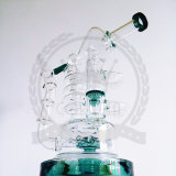 Corona Glass Tobacco Recycler Tall Color Bowl Glass Craft Ashtray Glass Pipes Heady Beaker 1bubble Glass Water Pipe