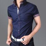 Navy Blue Custom Cotton Men′s Shirts