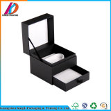 Matt Black Drawer Type Cardboard Jewelry Box with Pull Tab