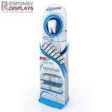 Blue Custom POS Irregular Display Stand Toothpaste Dispenser Commodity Shelf Rack