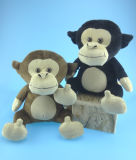 Sitting Animal Plush Toys Monkey in Two Colors