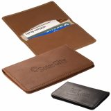 Promotional Leather Double Sided Business Card Case