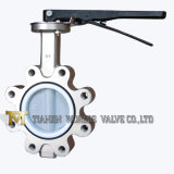 Stainless Steel All PTFE Lining Lug Type Wafer Butterfly Valve