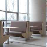 Fast Food Restaurant Leather Dining Booth Seating and Table