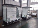 Cheap Open Vertical Multideck Display Showcase with Air Curtain