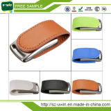 Customized Logo Leather USB Drive/USB