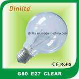 G80 Clear Frost White and Golden Incandescent Bulb