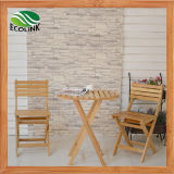Foldable Bamboo Table & Chairs Set for Balcony