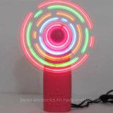 Pink Handheld LED Flashing Fan with Logo Print (3509A)