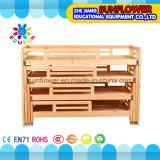 Children Wooden Four Floor Beds for Kindergarten Furniture