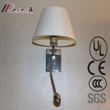 Hotel Room Decorative off-White Fabric Bedside Wall Light