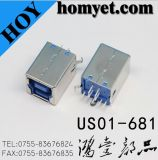 USB B Type 3.0 Connector with Straight DIP Type (US01-681)