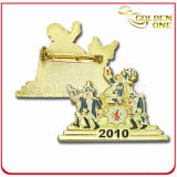 Factory Wholesale Custom Gold Plated Color Fill Metal Badge