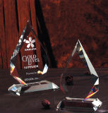 High Quality Prismatic Crystal Award with Laser Client Logo