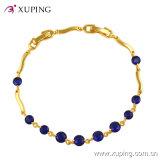 Xuping Fashion 24k Gold Gemstone CZ Jewelry Bracelet -71459