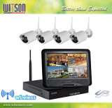 CCTV HD 4CH Wireless WiFi Camera System Integrated with 10 Inch LCD Monitor