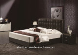 American Style Hotel/Home Bedroom Leather Double Bed (J028-2)