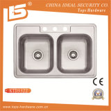 Overmount Stainless Steel Sink of Ktd3322 with Cupc (KTD3322)