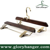 Deluxe Retro Pant Hanger with Flat Metal Clip