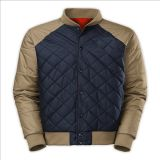 2015 Mens Champagne Contrast Color Thin Warmer Padded Winter Jacket