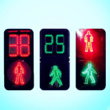 En12368 Approved High Luminous Pedestrian Traffic Light with LED Flashing Countdown Meter