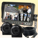 Quad Load Dump Monitor Reversing Camera System for Heavy Truck