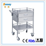 Two Drawers Medical Treatment Cart