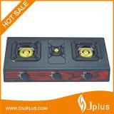 Black Colors Cold Rolled Sheet 3 Burner Gas Cooker Jp-Gc305t