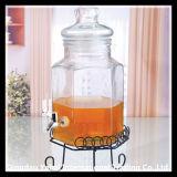 6L Liquid Storage Glass Tank with Glass Lid