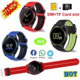 Newest Multi-Functions Wrist Smart Watch Phone with SIM Card Slot W9