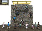 Kaiqi Children′s 5 Meter High Climbing Wall with Safety Harness