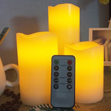 Set of 3 LED Remote Control Electronic Wax Candle