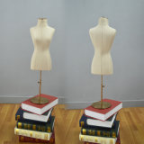 Linen Wrapped Female Mini Mannequin Torso for Boutique Display