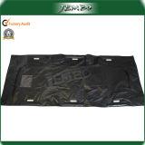 New Black PVC Die Cut Handle Body Bag