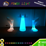 Rechargeable Flashing LED Furniture Plastic Bar Table