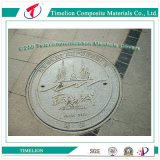 Composite Fiberglass Resin Manhole Cover with Characteristic Logos
