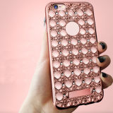 Electroplate Bling Diamond Pattern TPU Case for iPhone6 6s