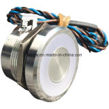 25mm Flat Head Stainelss Steel 316L Piezo Switch with Large Ring, Capacitives Switches (PZS25RZRO1)