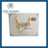 White Paper Shopping Bag with Silk Ribbon Handle (DM-GPBB-114)