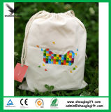 Promotional Wholesale Cotton Fabric Drawstring Gift Bag