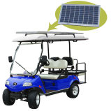 Golf Cart/Buggy with Solar Panel 2+2-Seater Blue