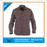 Mens Yarn Dyed Checked Long Shirt with High Quality