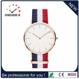 Fashion Men′s Dw-Style Nylon and Leather Band Wrist Quartz Watch