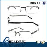 Om134200 Semi-Rim Metal Optics Eyewear with Aluminum Temple