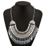 Alloy Antique Coin Tassels Statement Chokers Necklace Fashion Jewelry