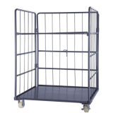 Warehouse Storage Rolling Trolley Container Cage